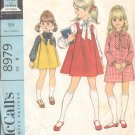 McCalls  pattern 8979   Childs Dress and  jumper  -  Size 6