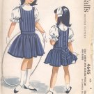 McCalls  pattern 4645   Girls jumper with attached petticoat and blouse-  Size 4