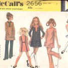 McCalls  pattern 2656    Girls Dress or top and pants-  Size 7