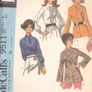 McCalls  pattern 9511  Misses   Blouse set -  Size  8