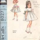 McCalls  pattern 8027      Childs dress with attached petticoat-  Size 3