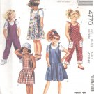 McCalls  pattern 4770   Girls Jumpsuit, Romper, jumper, sundress-  Size 8-10 med