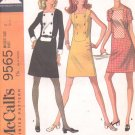 McCalls  pattern 9565  Misses  Dress in three versions -  Size 8