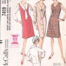 McCalls  pattern 7419  Misses  and Jr. Jumper or jumper dress, blouse -  Size 12