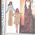 McCalls  pattern 5164 Misses and Junior Jacket, vest, skirt  pants-  Size 6-8-10