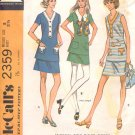 McCalls  pattern 2359  Misses two-piece dress in three versions -  Size  8