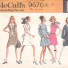 McCalls  pattern  9670   Misses  and Junior  Dress -  Size 8