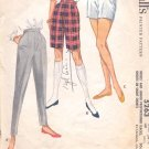 McCalls  pattern 5263  Misses and Jr. Slacks, Shorts,   -  Wiast 24 1/2