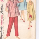Simplicity pattern 1348  Jr. Misses and Misses Pajamas and nightgown  Size  12