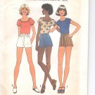 Simplicity pattern 7547  Young Jr. /Teens  Pullover tops , shorts- Size  5/6-7/8