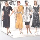 Vogue pattern  1848--  Misses Dress, tunic & Skirt-  Size 8-10-12