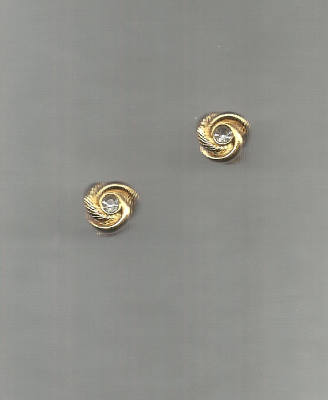 Avon  Center Rhinestone Knot pierced earrings