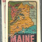 Vintage style Decal Sticker- Maine- The Pine Tree State  - NOS