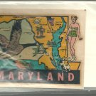 Vintage style Decal Sticker- Maryland  - NOS