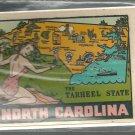 Vintage style Decal Sticker -  North Carolina- the Tarheel State  - NOS