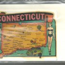 Vintage style Decal Sticker -  Connecticut  - NOS
