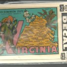 Vintage style Decal Sticker -  Virginia- The Old Dominion State  - NOS