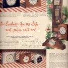 Dec. 8,1947     General Electric Clocks      ad  (#6366)