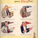 April 7, 1941  Hiram Walker's   Signet Whiskey    ad  (#3745)
