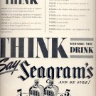 May 31, 1937    Seagram's Whiskey        ad  (#6534)