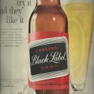 1961  Carling Black Label Beer ad ( #3295)