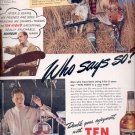 March 3, 1941  Ten High Whiskey   ad  (#3481)