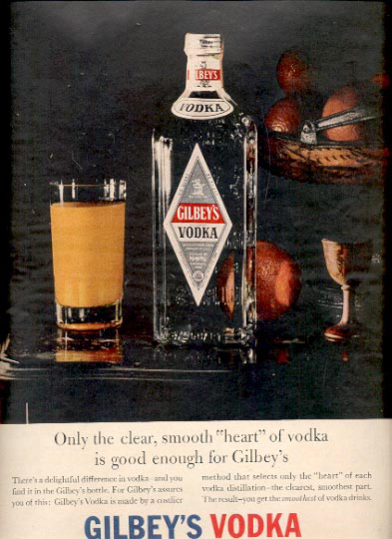 1957  Gilbey's Vodka   ad (# 4984)