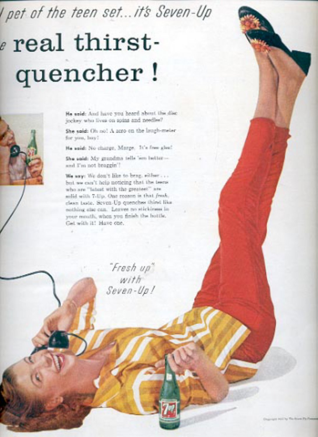 1957 Nothing does it like Seven-UP!  ad (# 4977)