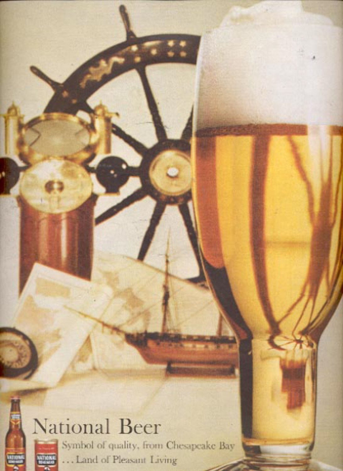 1960  National  beer ad (#5460)