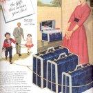 1954  Samsonite flight-proven luggage ad (# 5164)