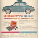 July, 1960 Win Renault Dauphine      ad (#4311)