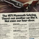 1970 ad  of 1971 Plymouth  Sebring (# 929)