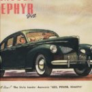 1939 ad of 1940 Lincoln Zephyr V-12 ad  (#153)