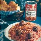 1961 Chef Boy-Ar-Dee spaghetti and meat balls  ad (#5872)