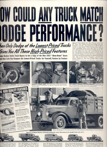May 31, 1937   Dodge        ad  (#6538)