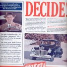 March 3, 1941  Plymouth builds great cars   ad  (#3480)