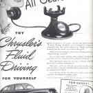March 10, 1941     Chrysler with Fluid Drive  ad  (#3313)
