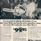 1972 McCulloch Mini Mac Gasoline Chain Saw ad # ( 2334)