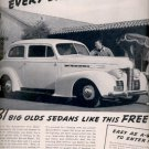 1939  Oldsmobile sedans      ad (#6001)