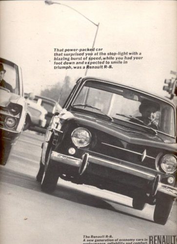 1965    Renault R-8  ad (#5914)