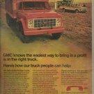 Aug. 1972  GMC truck   ad (#4029)
