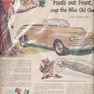 1947 Ford's out front Ad - w/owl (#98)