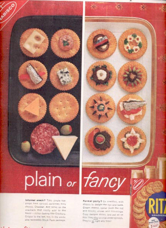 1960  Nabisco Ritz Crackers  ad (#5496)