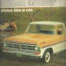 Aug. 1972  Ford Pickups   ad (#4030)