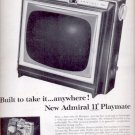 """1963   Admiral 11"""" Playmate TV   ad (#5535)"""