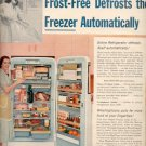 1957  Westinghouse Frost-Free Refrigerator  ad (# 4986)