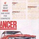 1960 ad of 1961 Dodge    Lancer ( # 1722)