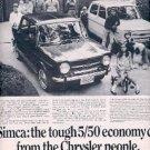 SEPT.  8,  1967 Simca  Chrysler  ad (# 2452)
