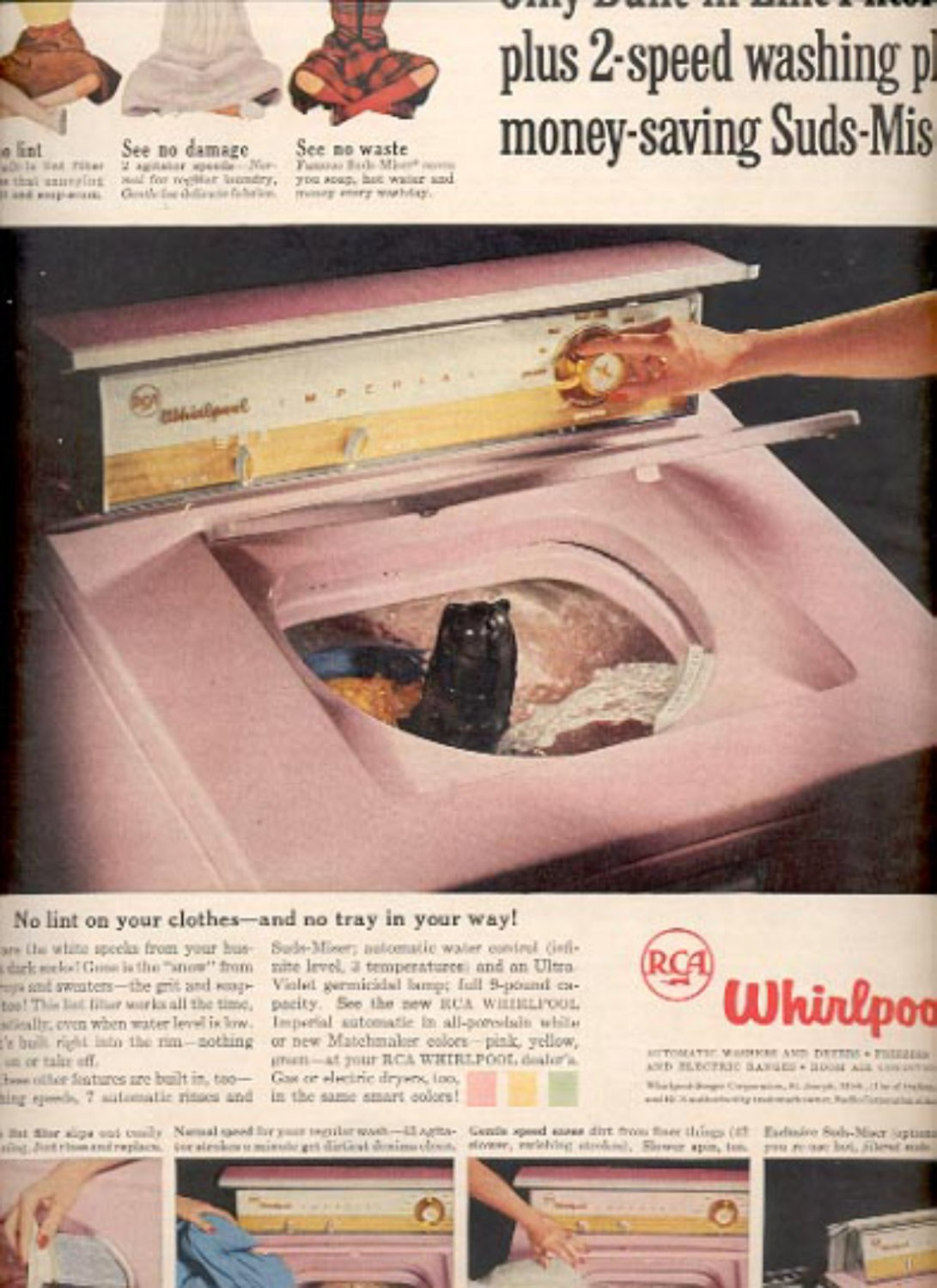 1957  RCA Whirlpool Washer  ad (# 4943)
