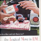 1964 -  L & M Cigarette with a modern all-white filter  ad (# 4514)